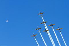 Esquadrilha da Fumaça (Edi Eco) Tags: show fab sky moon canon airplane airshow 7d area lua aviao ceu esquadrilha fumaça forca brasileira pirassununga