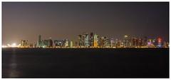 Doha skyline (M Luca) Tags: city panorama skyline night fuji vista notte doha qatar citt x100