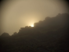 Sun & Mist - Saddle Tor (i-r-paulus) Tags: mist misty moody devon granite tor dartmoor saddletor cctvlens