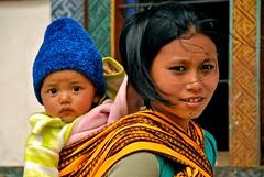 Bhutan-Wangdue village (venturidonatella) Tags: people woman portraits children eyes nikon women asia faces bhutan ngc mother persone ritratti volti sguardi wangdue bestportraitsaoi