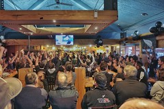 All Blacks win World Cup! (beyondhue) Tags: world new england people cup sports bar fan rugby australian australia scene zealand final local cheer win kaikoura clap 2015 newzealander beyondhue alphonsi