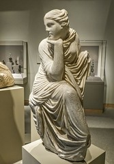 Full length view of a seated Muse, probably Urania the muse of astronomy Roman copy after a Greek original of the early 3rd century BCE (mharrsch) Tags: sculpture statue female greek ancient roman maryland baltimore muse astronomy myth urania waltersartmuseum 3rdcenturybce mharrsch