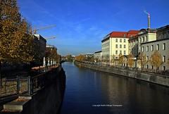 Berlin Spandau Schiffskanal in Berlin 24102015 (MartinE157) Tags: berlin water buildings germany outdoor shipchannel berlinspandau trees