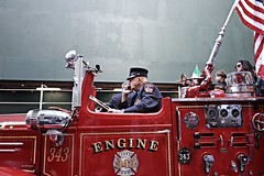 New York fireman (ncescolina) Tags: newyork fireman columbusday pompiere
