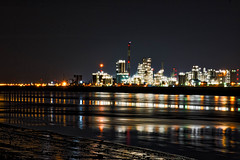 Antwerp Industry (Jochem.Herremans) Tags: old travel blue light sunset sea people brown white plant reflection industry water colors station night buildings river outdoors photography evening harbor boat big high dock energy stream europe industrial factory ship belgium image crane smoke transport working panoramic cargo gas container business repair transportation oil belgian antwerp shipping antwerpen global chemical loading