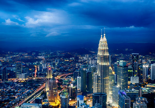 Petronas Towers, seen from KL Tower