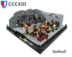 The Chamber of Unspeakable Horrors (aardwolf_83) Tags: castle feast funny rocks lego cell dungeon accordion prison jail torture chamber cave tickle taunt cruel