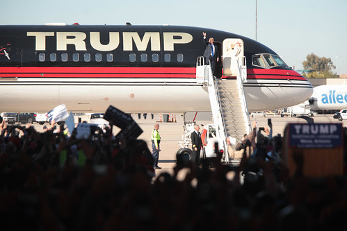 Donald Trump with plane