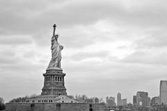 The Statue of Liberty (New York) (Doncardona) Tags: statue liberty bw black white new york city nyc newyork usa united states america worldtraveler jpworldtraveler travel trip adventure journey nikon nikon3100 3100 island