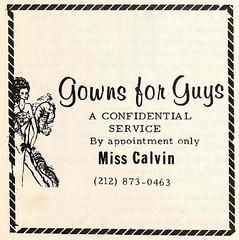 Gowns For Guys (~ Lone Wadi ~) Tags: drag crossdressers fashion misscalvin style dress ad retro 1970s advertisement confidential appointment