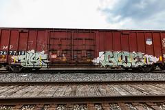 (o texano) Tags: houston texas graffiti trains freights bench benching post glote