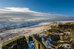 January Snow 2017 029 - Buckstones above Marsden (Mark Schofield @ JB Schofield) Tags: huddersfield pennines pennineway moors moorland peat nationalpark thenationaltrust marsden scammonden pulehill marchhaigh wessenden wessendenvalley meltham wessendenhead reservoir water watershed snow winter landscape bog rock ice outdoors open space panoramic canon 5dmk3 holmemoss mast
