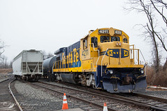 SLRS GE B23-7 #4211 @ Logan Twp., NJ (Darryl Rule's Photography) Tags: 2017 bboat b237 bnsf clouds diesel freight freighttrain ge january mixedfreight nj newjersey pureland railroad railroads sms smslines santafe shortline swedesboro tankcar tankcars train trains winter