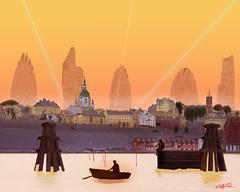 Stockholm (Christoffer Boman) Tags: stockholm art graphicdesign comic drawing future sweden sverige