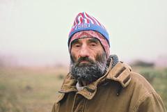 (Nothing is surrender) Tags: man fog serbia cap serbian beard old cold danube dunav srpski српски