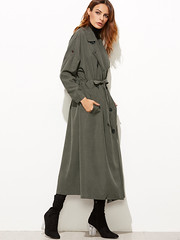 Full Length Maxi Trench (betrenchcoated) Tags: trenchcoat trench raincoat regenmantel fulllength mantel maxicoat doublebreasted buttons beautifulgirl green