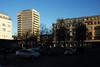 biel (plattnerbauten) Tags: switzerland suisse schweiz architecture urban city cityscape biel bienne street square trees sun light highrise balcony