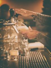 Draft Beer (Al Fed) Tags: 20161113 beer berlin night fresh woman wrist tattoo tap draw draft
