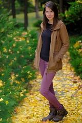 Colorful November 3 (Móni Péter) Tags: fujix fuji fujifilm fujinon fujiprime fujicolors beautiful szép woman nő smile mosoly portrait portré pretty primelens autumn ősz xf56mmf12r xf56 gerenday arborétum lábatlan people outdoor nd