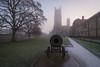 Looking down the barrel at Ely Cathedral, Cambridgeshire, UK (3) (Nick Bowman1) Tags: cambridgeshire sonya99 frosty ely foggy firstlight uk sonyzeissvariosonnar1635 england unitedkingdom gb