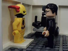 Wells and the Suit (MrKjito) Tags: lego minifig flash dc comics comic super hero villain reverse cw dr harrison wells speed force