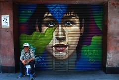 "Curtain-portrait ""Líla-Alí"" (Luna's foto) Tags: portrait ch centro méxico local negocio conrtina curtain cdmx graffiti pinta"