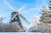 Old windmill in winter landscape (mpakarlsson) Tags: rantens kvarn windmill falköping skaraborg sweden winter snow freezing frost tree nature window wings sky clouds 85mm prime canon 5dii 5dm2 5dmark2 5dmarkii