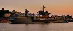 USS Mount Whitney. (Papa Razzi1) Tags: 8593 2016 177365 ussmountwhitney naval navy ship us summer june sweden stockholm twilight