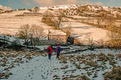Winter wonderland.... (Dafydd Penguin) Tags: winter wonderlund peak district national park uk britain ramble rambler rambling walker walk walking trek treking hike hiker hiking countryside hill snow sun golden light nikon df nikkor 35mm af f2d