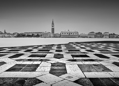 Algebraic (TS446Photo) Tags: venice mono blackandwhite italy negro long exposure chess bianco water travel trip architecture