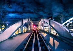 Railroad Bridge (zackesvensson) Tags: panasonic gx7 samyang longexposure nightscape night uppsala sweden rail railroad lightroom gimp