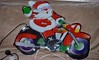New Christmas Decs Santa on his Bike was 75% off about  3 ft by 2 ft out side light only cost us £5.50 in stead of £27 (John Carson Essex UK) Tags: thegalaxy thegalaxystars supersix