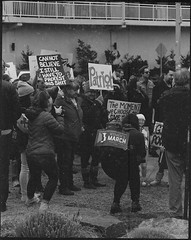 Cannot Believe I Still Have To Protest This Shit (thereisnocat) Tags: pentax pentax67 165mm protest womensmarch womensmarchap asburypark monmouthcounty newjersey nj hp5