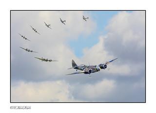Bristol Blenheim Mk 1 flypast - Duxford Sep 2015 [Explored]