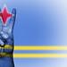 Peace Symbol with National Flag of Aruba