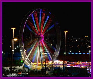 Motion blur big wheel.
