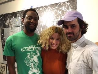 Artists Adler Guerrier, Jessica Martin and Juan Pablo Garza at the ACSF resident artists open house