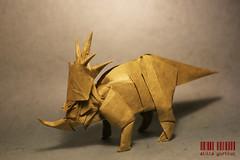 Stayracosaurus (dargelirli) Tags: origami dinosaur satoshi atilla kamiya yurtkul stayracosaurus