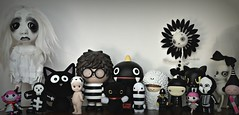 Stripey Saturday (Lawdeda ) Tags: friends bw ice sorry true angel cat fun doll panda with you mcgee usb come ren loopy stripey wish sonny gee bots bratz treeson paperclay boopy violetpie lalaloopsy