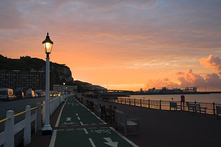 Sunrise on Marine Parade, Dover.