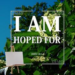 """""""Ik ben verwacht"""" Canvasdoek (Zalving.nl - De Zalfolie Webwinkel) Tags: poster god jesus canvas identity yeshua proclamation doek christelijk christelijke"""