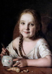 IMG_8762 Johann Baptist Reiter. 1813-1890. Jeune fille  à son petit déjeuner. Girl at breakfast. 1846. Hannover.