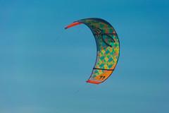 Kitesurfing (pintado.jorge) Tags: ocean sanfrancisco california blue sky kite unitedstates kitesurfing pacificocean