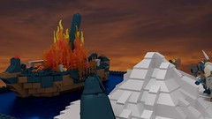 The Ship Burns (Luke Skytrekker) Tags: sea landscape fire boat ship flame knight lor sabotage garheim