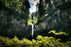 Over the Wall (markofphotography) Tags: oregon waterfall basalt geologicalformation scottsmills abiquafalls portlandhikers