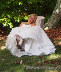 Amandas Bridal Session (kimmc12) Tags: wedding fall colors bride boots country gown graysonhighlands