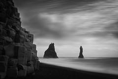 vik (marclelivre) Tags: white black beach iceland sand vik reynisfjall