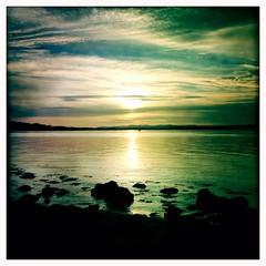 Almond Estuary Sunset (billyrosendale) Tags: sunset river scotland edinburgh almond estuary forth firth firthofforth riveralmond almondestuary almondriver firthforth hipstamatic
