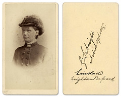 Carte de visite photo of woman (leightonian) Tags: uk buckinghamshire cartedevisite bucks portrair sebright linslade