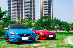 Volvo V40 D4 R-design & BMW Z4 35is (James' Lee photography) Tags: volvo bmw z4 d4 v40 rdesign volvoforlife 35i volvomoment
